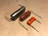 Lote condensadores Orange Drop y PIO - foto