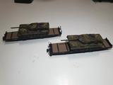 Vagón plataforma escala n con tanque - foto
