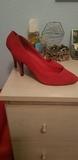 zapato tacón rojo  n 37 - foto