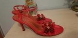 zapatos de tacón con flor de adorno 37 - foto