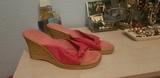 zapatilla de cuña, color rosa - foto