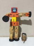 Robot articulado de madera - foto