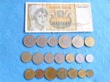 Yugoslavia, Lote de monedas con billete - foto