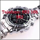 Wvx9sk reloj espia de acero full hd - foto