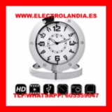 8Ve  Reloj Sobremesa Camara Espia HD - foto