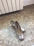 zapatos de piel color plata num 39 - foto