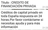 CREDITO DE FINANCIACION PRIVADA - foto