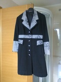 Abrigo negro y gris t.m - foto