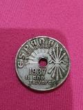 moneda 25 céntimos,II año triunfal - foto
