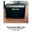 Marshall Mod: 8080 – 80w - foto