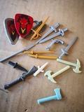 lote escudos y armas playmobil - foto