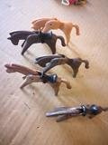 lote 5 caballos oeste famobil/geobra - foto