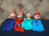 lote de marionetas años 70 famosa, popey - foto
