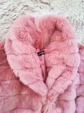 Abrigo peluche rosa sin uso talla L - foto