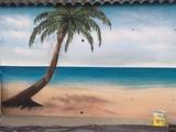 Pintor mural - foto