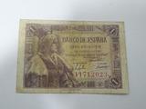 Billete 1 peseta 1945 reina isabel - foto