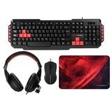 Pack teclado + ratÓn + alfombrilla + aur - foto