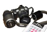 Cámara fotos película NIKON F75+lentes - foto