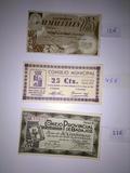 cuatro billetes antiguos - foto