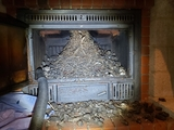 deshollinador de chimenea limpieza - foto