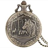Reloj de bolsillo Manada de Lobos - foto