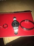 Reloj Rolex,pulsera chapada,anillo - foto