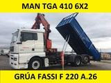 MAN GRUA BASCULANTE - TGA 410 FASSI F 220 A. 26 - foto