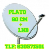Antena parabolica 80 cm mas lnb - foto