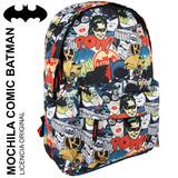 Mochila Batman Juvenil 41cm Modelo Comic - foto