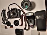 Camara eos 50d + objetivo y flash - foto
