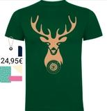 Camisetas Brown deer bust TC - foto