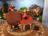 Casa de pitufo,granja-techo rojo-COMPLET - foto