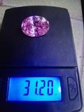 zafiro rosa 31,20 kilates precioso - foto
