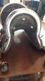 Silla de montar con plata y oro rosa ant - foto