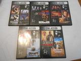 5 dvds con 11 películas, cine de acción - foto