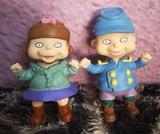 Lote figuras rugrats gemelos fil y lil - foto