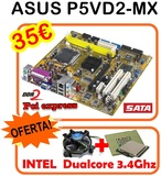 PACK 775 DualCore 3.4 + placa base + ven - foto