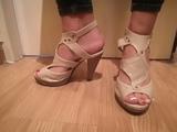 sandalias de piel, nº 39 - foto