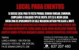 LOCAL PARA EVENTOS Y CELEBRACIONES - foto