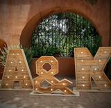 Letras love bodas y eventos - foto