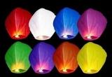 farolillos voladores globos - foto