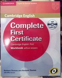 CAMBRIDGE COMPLETE FIRST CERTIFICATE WOR - foto