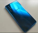 Samsung A7 azul , impecable - foto