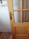 Puerta de madera en perfecto - foto