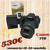 cámara réflex canon 77D - foto