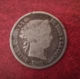 Moneda Isabel II plata - foto
