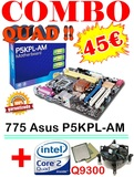 Pack 775 p5kpl-am + quadcore q9300 - foto