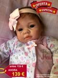 Rebeca; bebe reborn 55 cm y 2.2kg pelito - foto