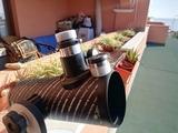 telescopio con dos lupas - foto