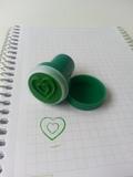 Sello corazón verde - foto